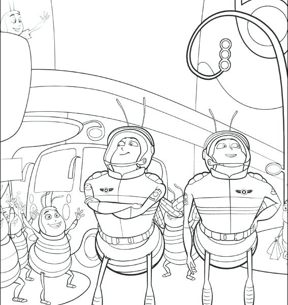 567x600 Bee Movie Kids Coloring Pages Printable Coloring Pages Flushed