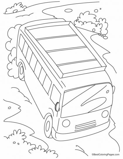 420x542 Fast Moving Bus On A Slope Coloring Pages Download Free Fast