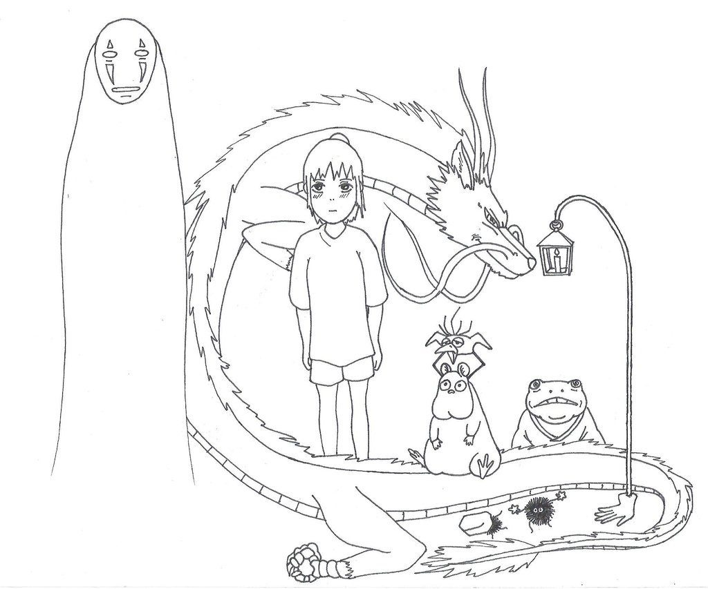1024x853 Odd Howl S Moving Castle Coloring Pages Spirited Away Book Arilitv
