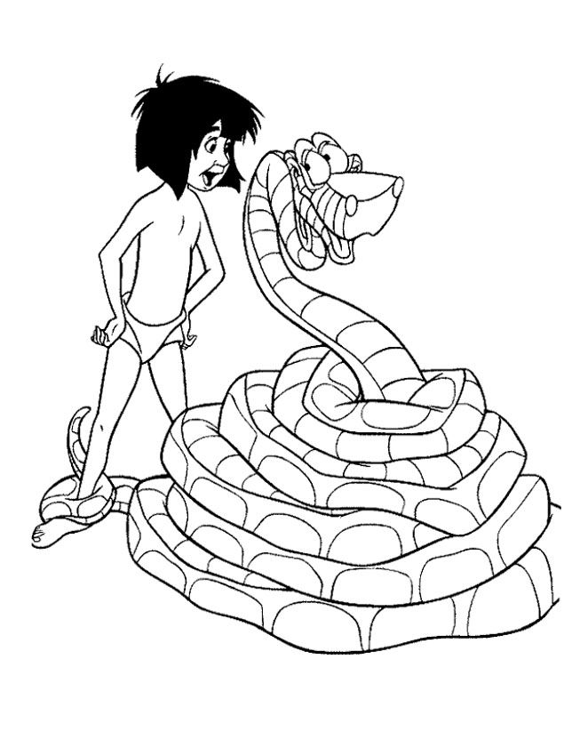 653x823 Jungle Book Mowgli And Kaa Coloring Pages Coloriages Images