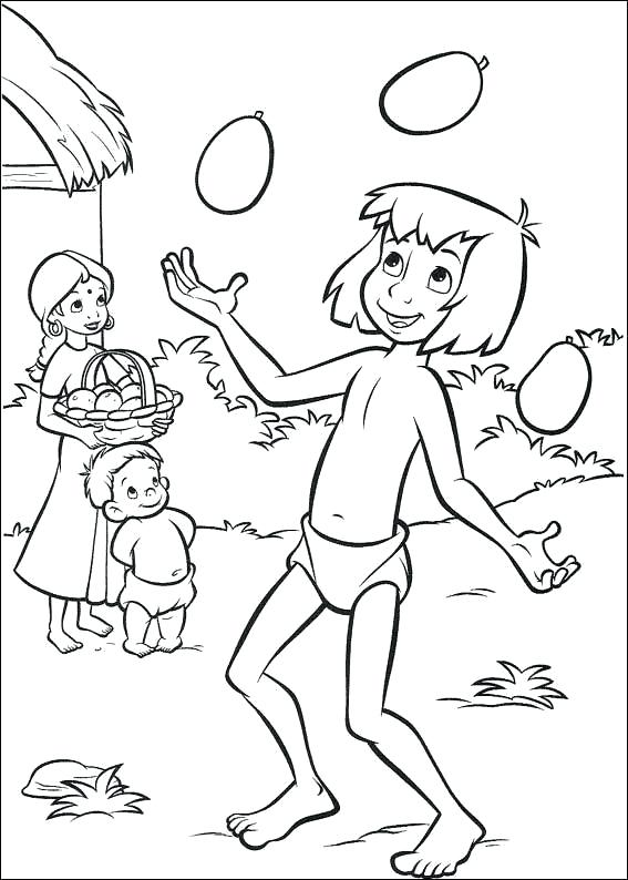 567x794 Mowgli Jungle Book Coloring Pages Printable Coloring Download