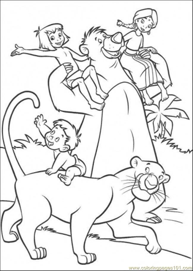 650x912 The Indian Family Mowgli Baloo And Bageera Coloring Page