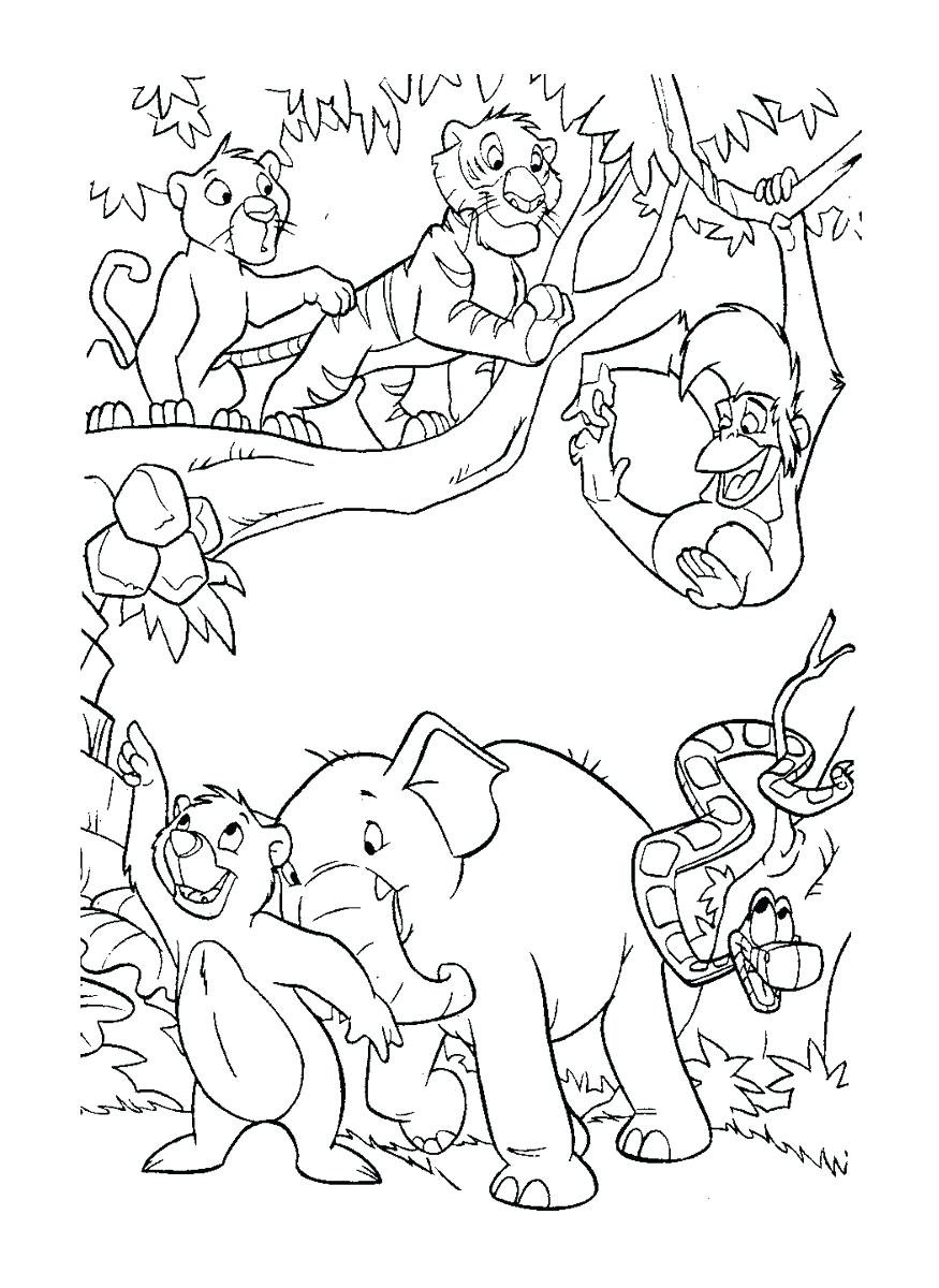 875x1200 Coloring Pages Jungle Book Coloring Pages Gallery Images