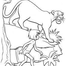 220x220 Bagheera Talks To Mowgli Coloring Pages