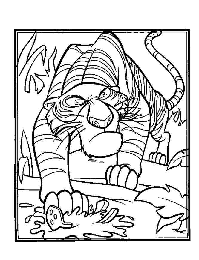 666x867 Coloring Pages Autograph Book Shanti And Mowgli From Shere Khan