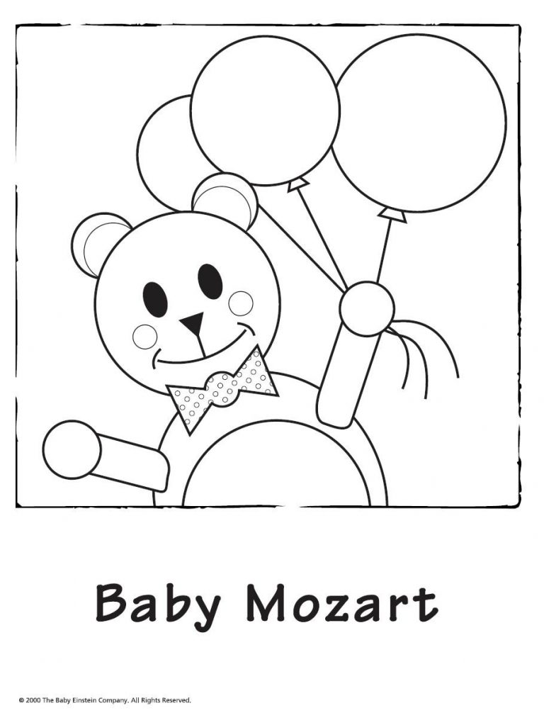 768x1006 Coloring Pages Baby Einstein New Mozart Free Printable