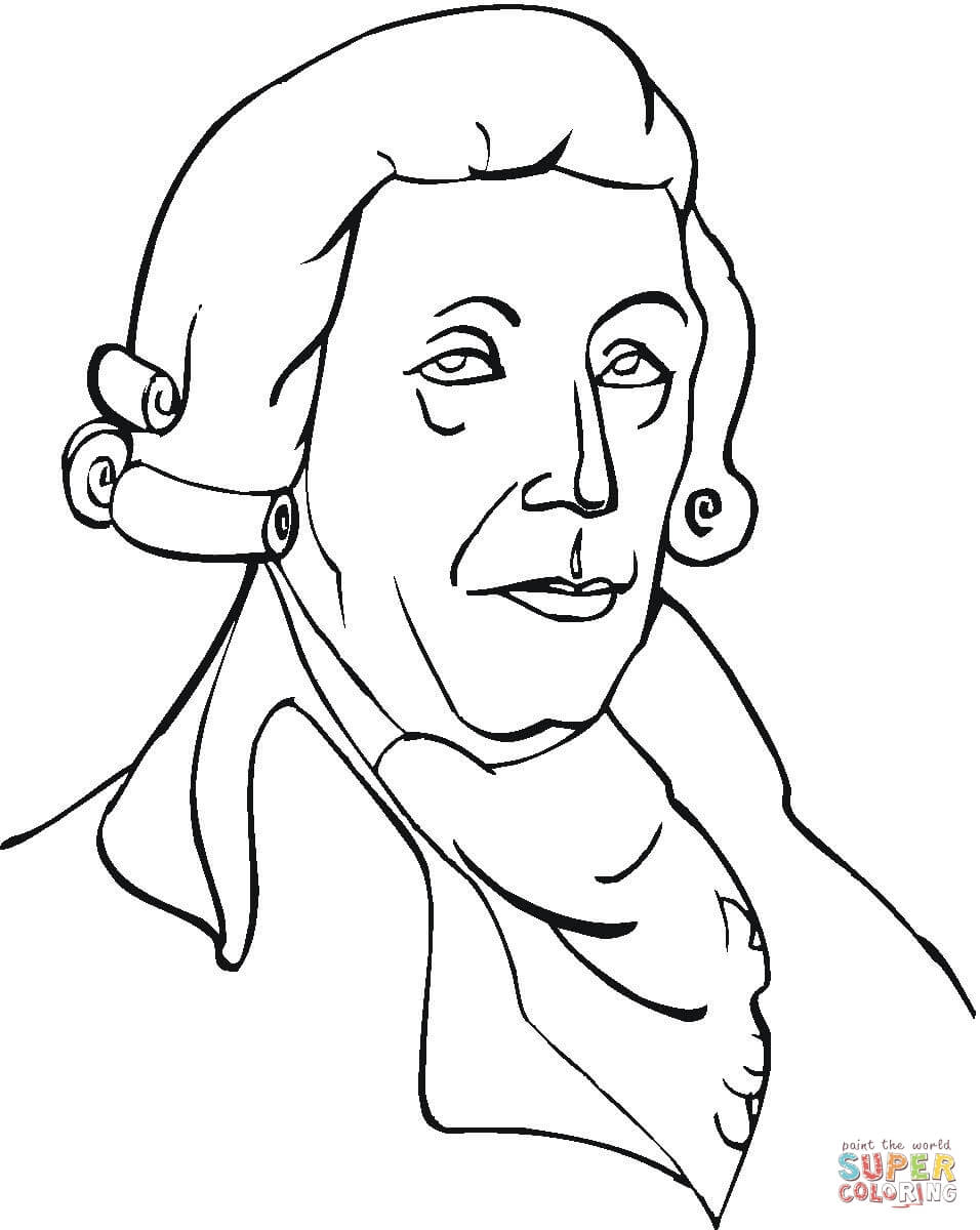 956x1200 Mozart Coloring Page