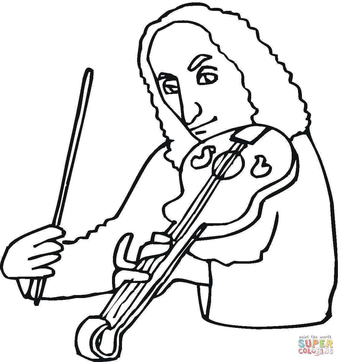 1126x1200 Niccolo Paganini Coloring Page Mozart Pages