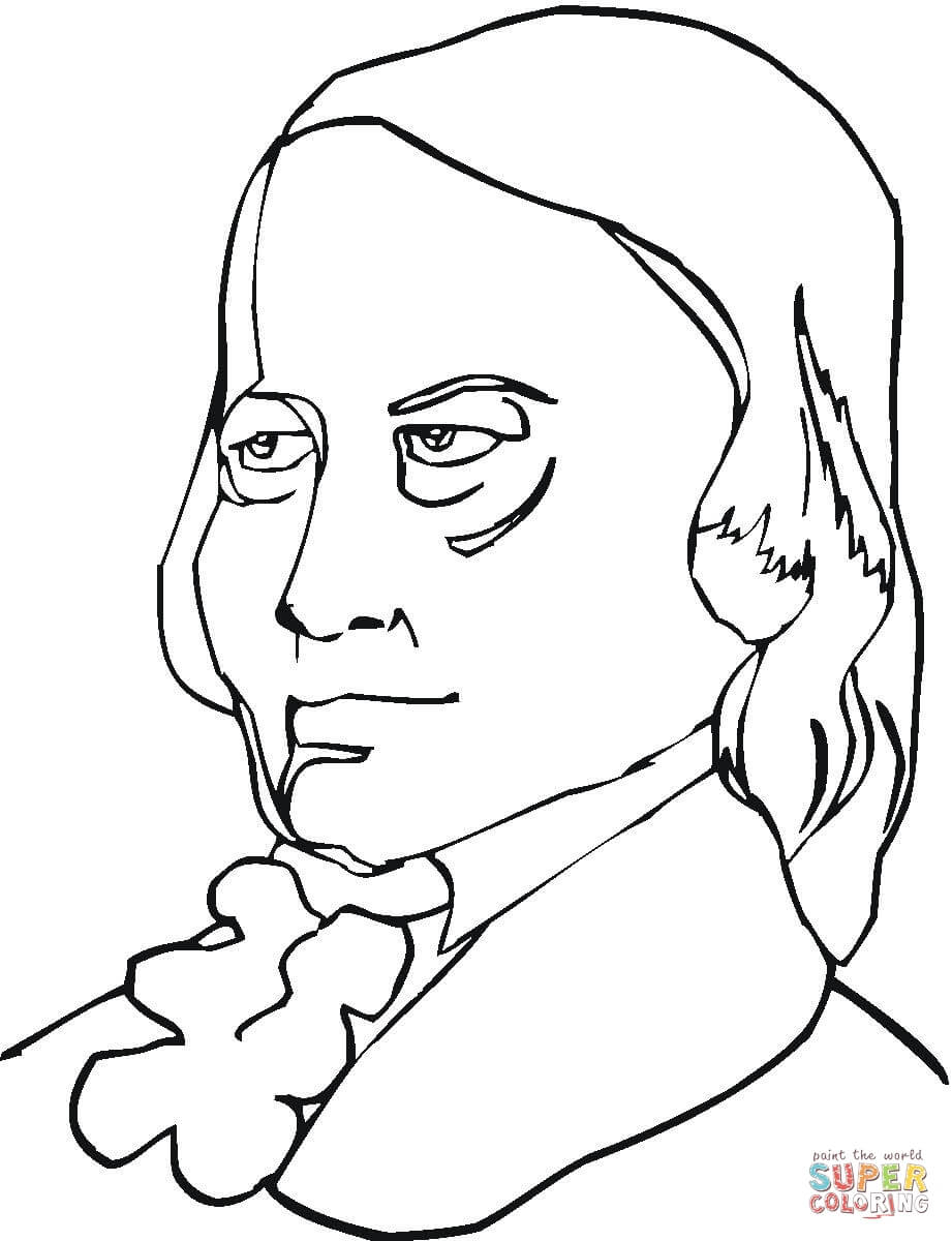 921x1200 Wolfgang Amadeus Mozart Coloring Page