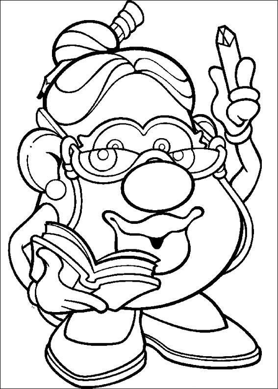 Mr Potato Head Printable Coloring Pages
