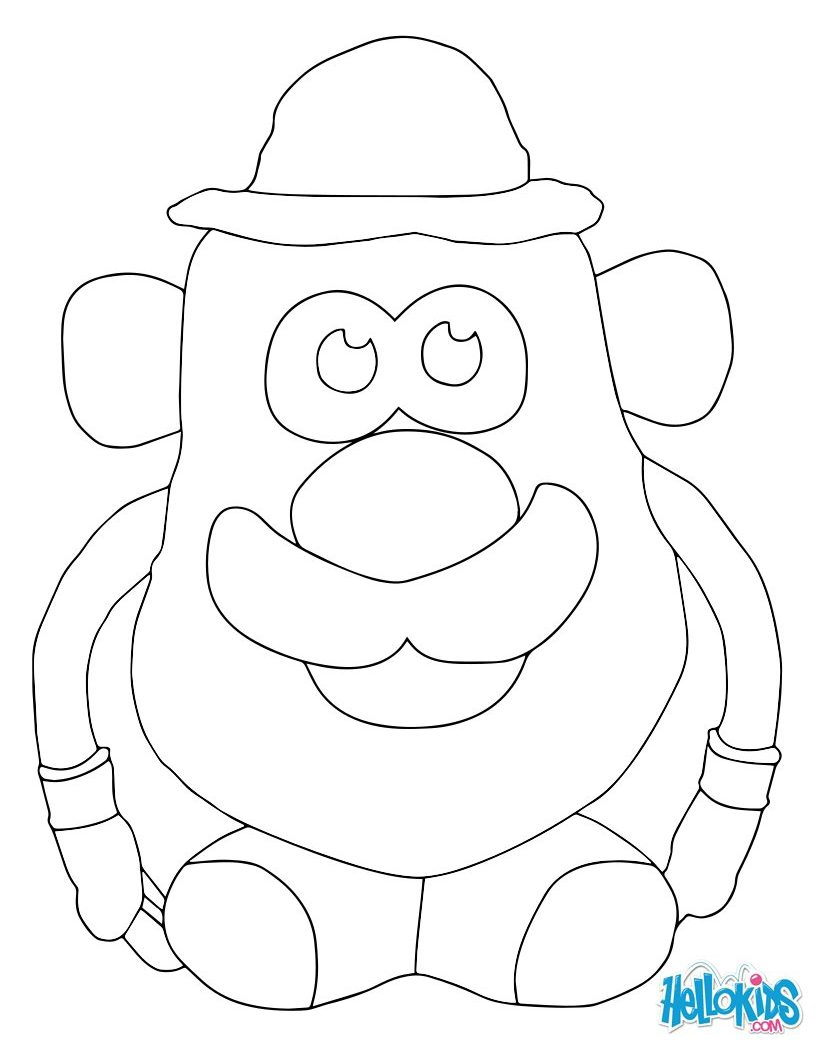 821x1050 Mr Potato Head Coloring Page Free Printable Mrs Pages Cartoons