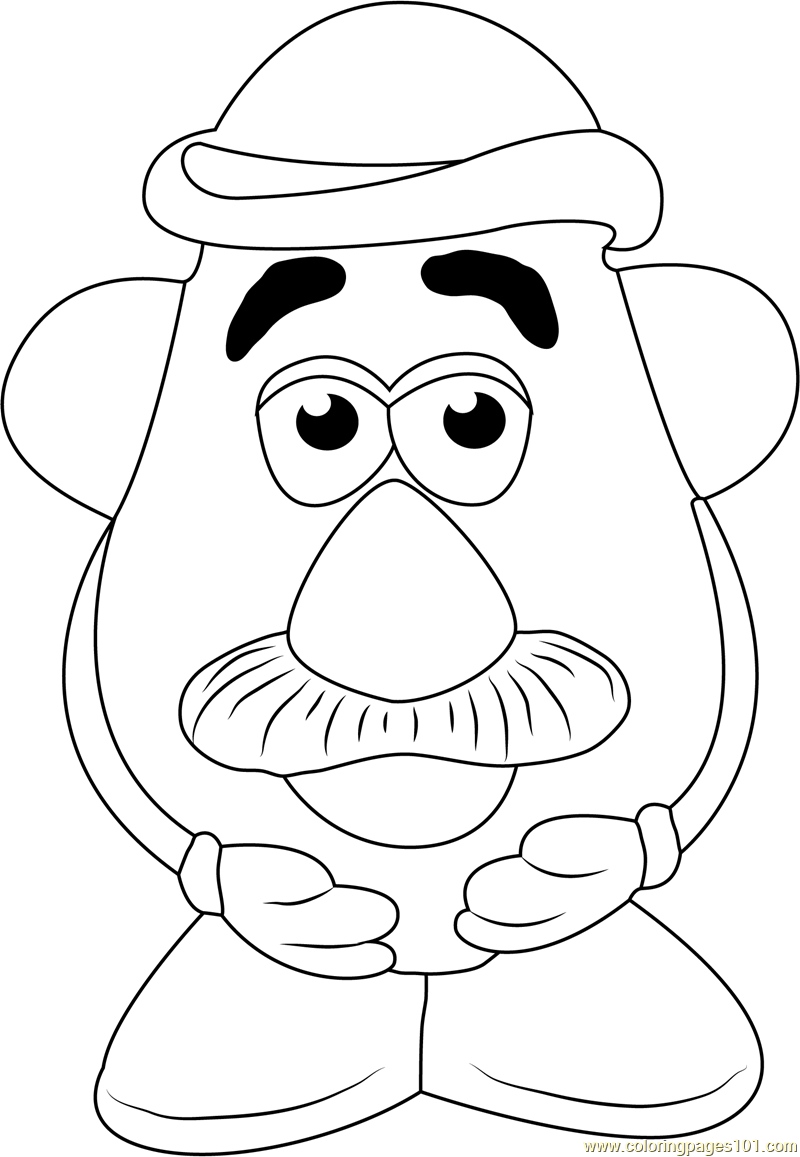 Mr Potato Head Printable Coloring