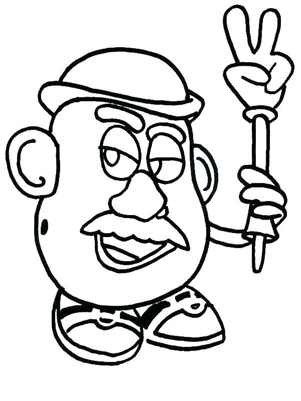 Mr Potato Head Printable Coloring Pages At Getdrawings Free Download