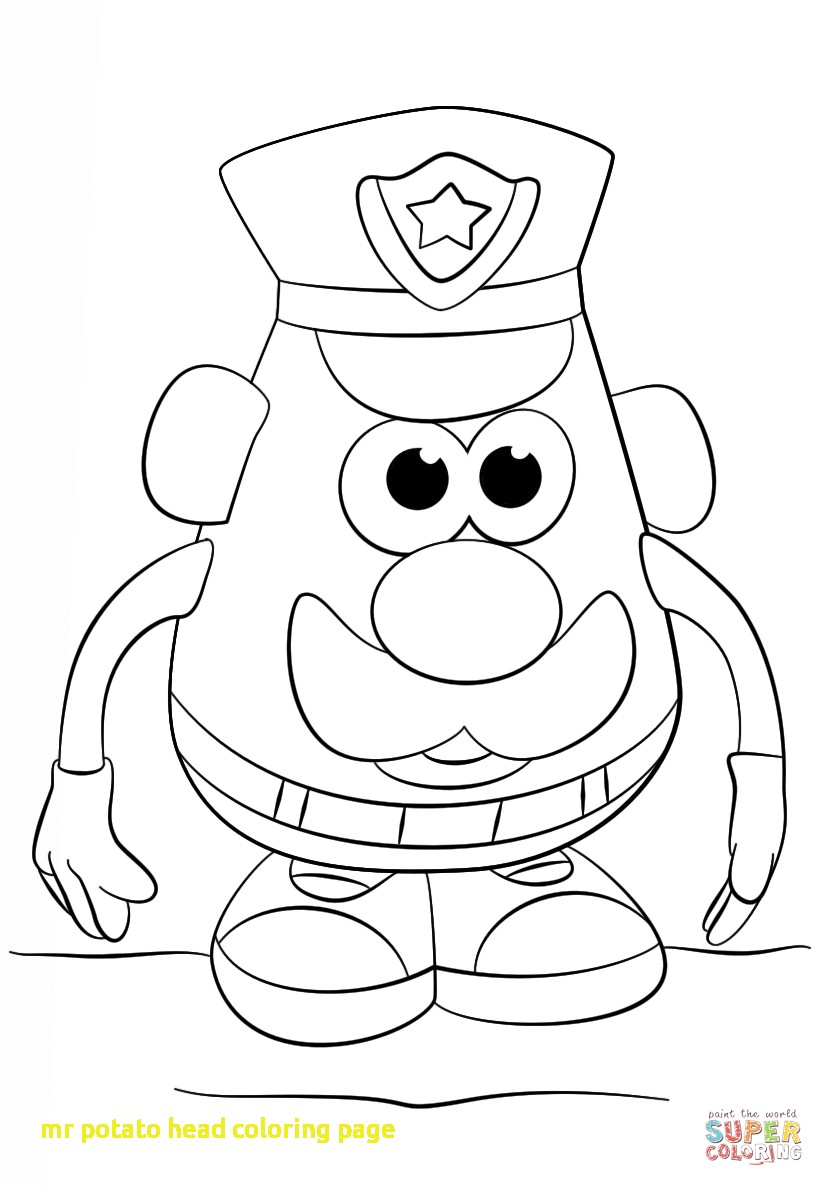image relating to Mr Potato Head Printable identified as Mr Potato Intellect Printable Coloring Webpages at