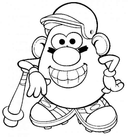 520x560 Mr Potato Head Coloring Page Fun Coloring Pages Mr Potato Head