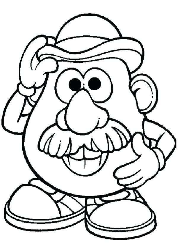600x848 Mr Potato Head Coloring Pages Potato Head Coloring Pages Potato