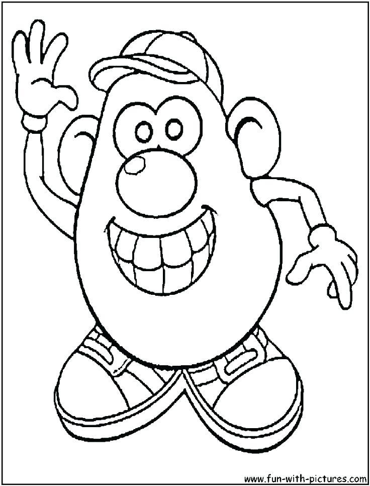 736x966 Mr Potato Head Coloring Pages Potato Head Coloring Pages Printable