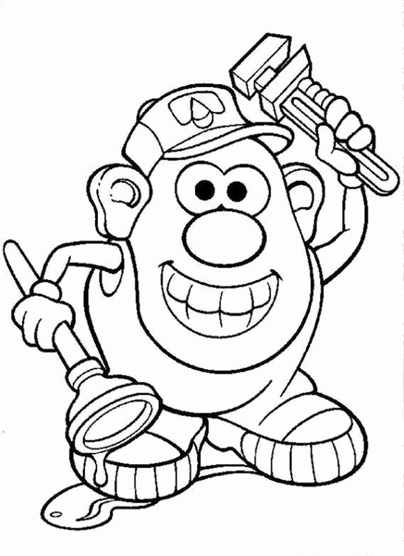 900x1240 Mr Potato Head Printable Coloring Pages Image Potato Clipart