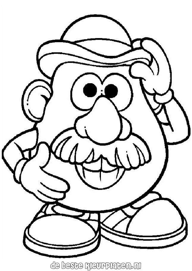 645x912 Mr Potato Head Coloring Pages