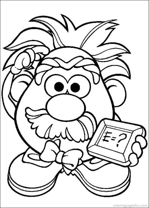 571x800 Mr Potato Head Coloring Pages This Was The Center Of Our