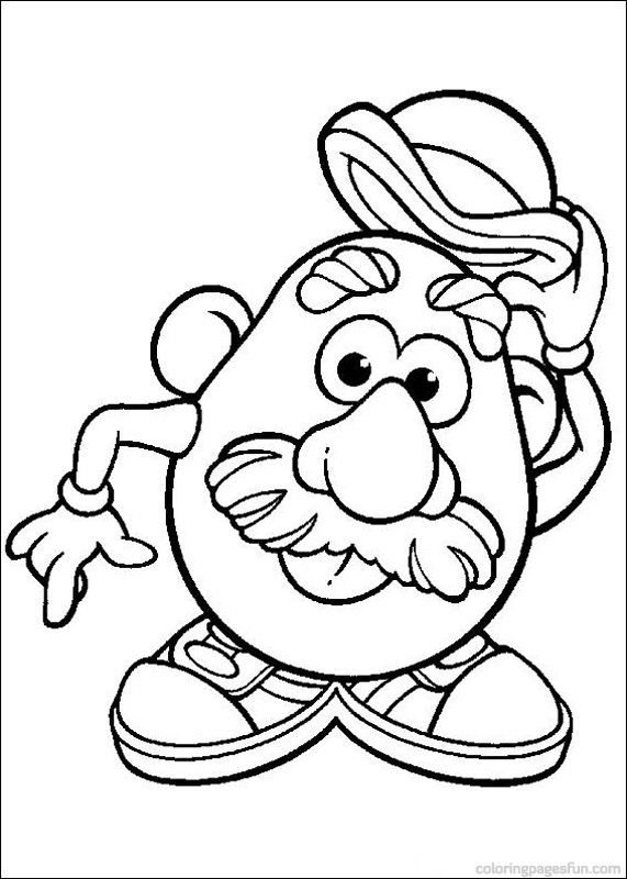 571x800 Mr Potato Head Coloring Pages Free Printables For Kids
