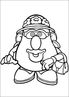 236x330 Mr Potatohead Coloring Page