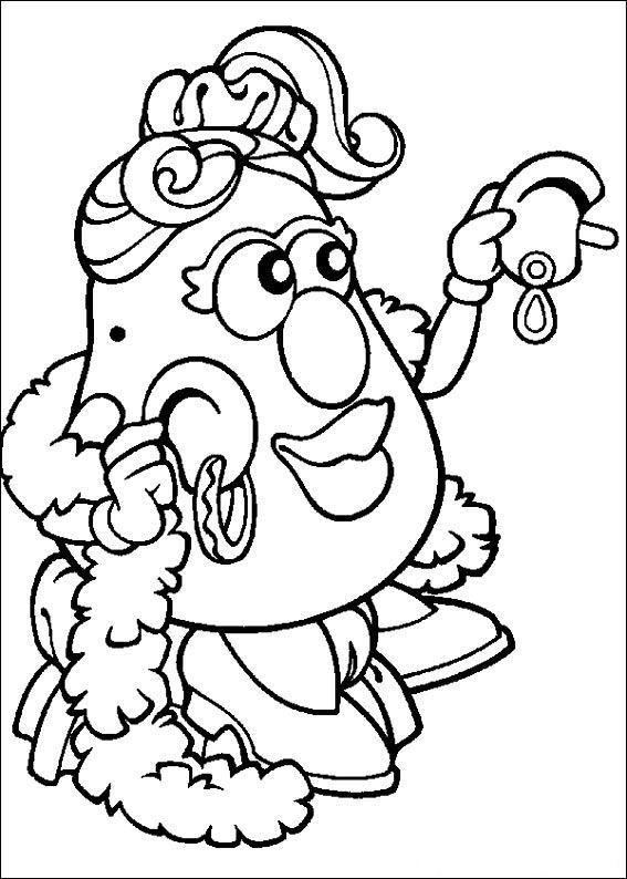 567x794 Potato Head Coloring Page Mr