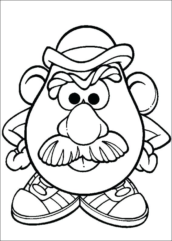 567x794 Potato Head Coloring Pages Colouring For Funny Draw Photo Plus