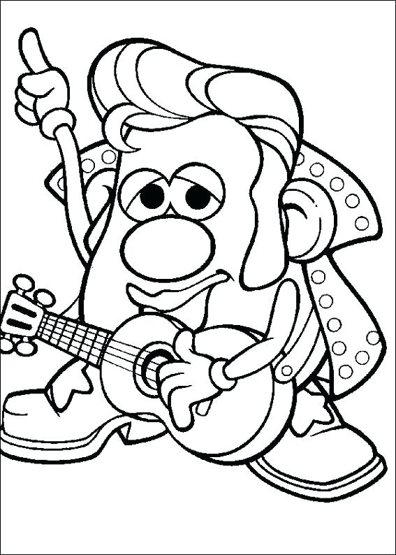 567x794 Potato Head Coloring Pages Drawing Potato Head Coloring Pages Free