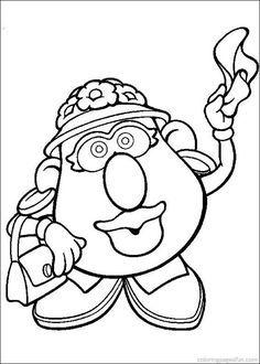 236x330 For Maesyn's Busy Book Potato Head Coloring Sheets Mr Potato