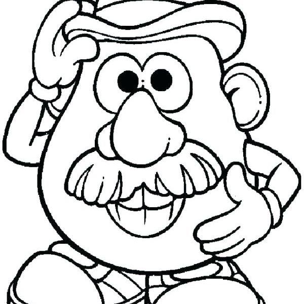 600x600 Magnificent Mr Potato Head Coloring Pages Image