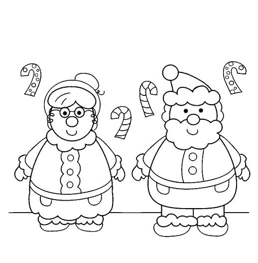 The Best Free Santa Claus Coloring Page Images Download