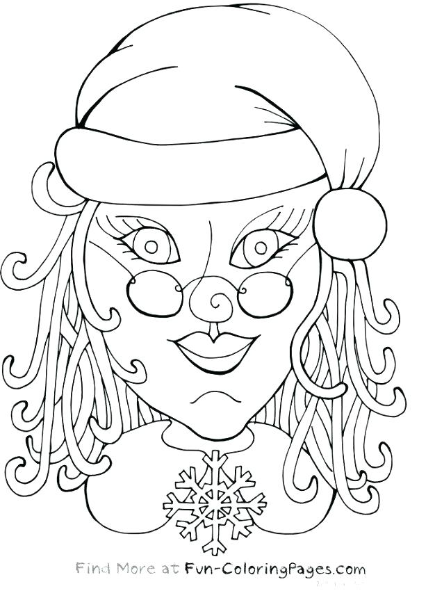626x850 Exelent Mrs Claus Coloring Page Festooning