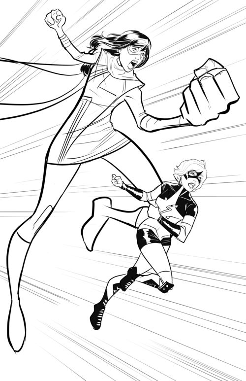 Ms Marvel Coloring Pages