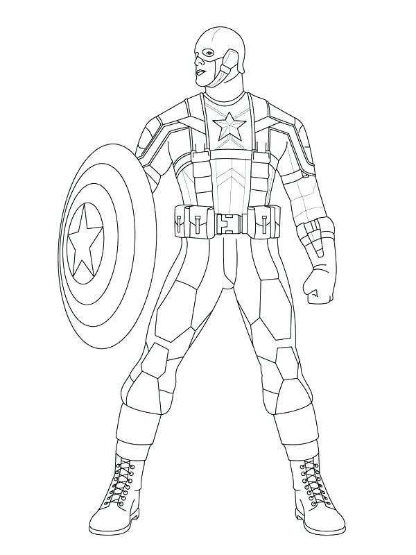 600x800 Captain America Shield Coloring Page Captain Shield Coloring Page