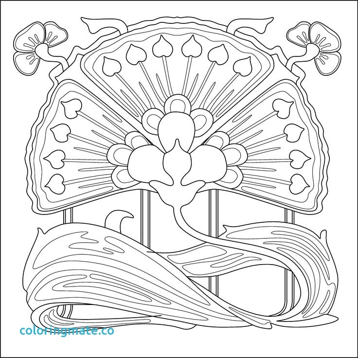 736x736 Alphonse Mucha Coloring Pages Pleasing Art Nouveau Coloring Pages