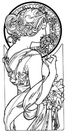 214x424 Alphonse Mucha Coloring Pages Ltbgtalphonse Mucha Coloring Booklt