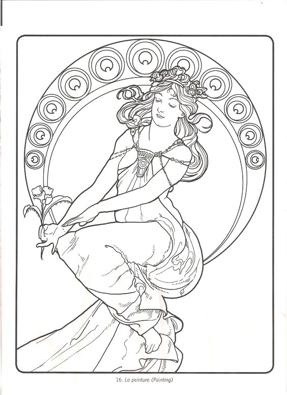 564x775 Elegant Alphonse Mucha Coloring Pages Ideas Coloring Gallery