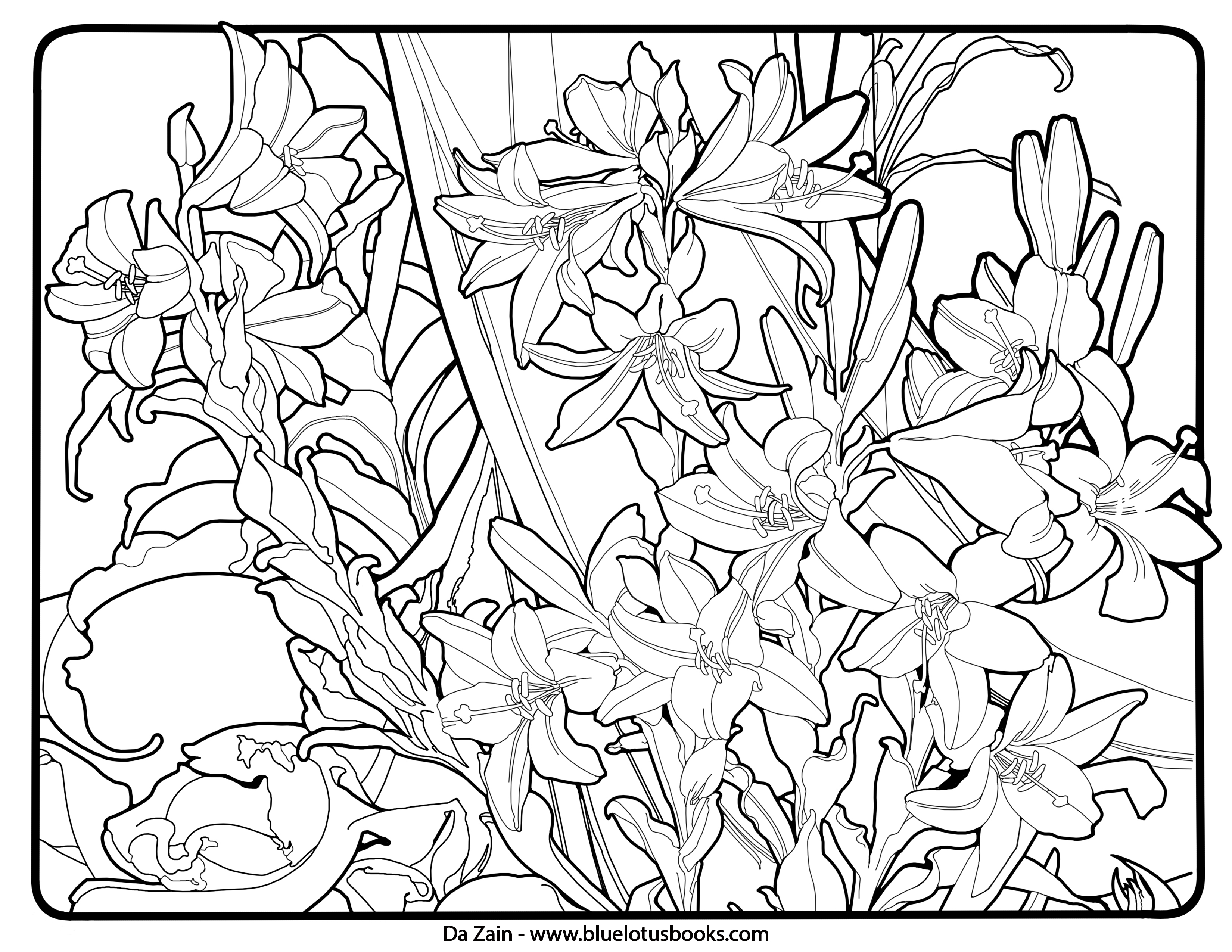 3300x2550 Alfons Mucha Art Nouveau Free Adult Coloring Pages Adult