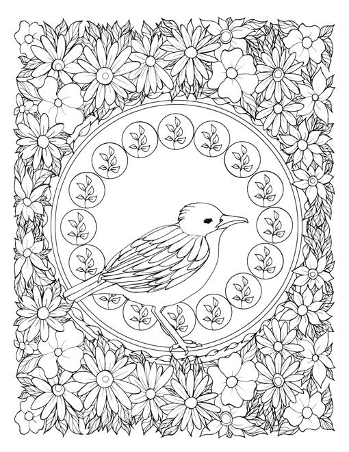 510x660 Alphonse Mucha Coloring Book Best Art Nouveau Coloring Book
