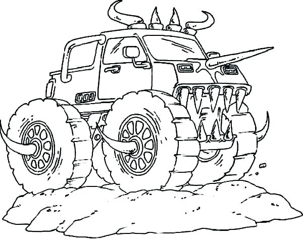 600x473 Monster Truck Printable Free Coloring Pages Monster Trucks Monster