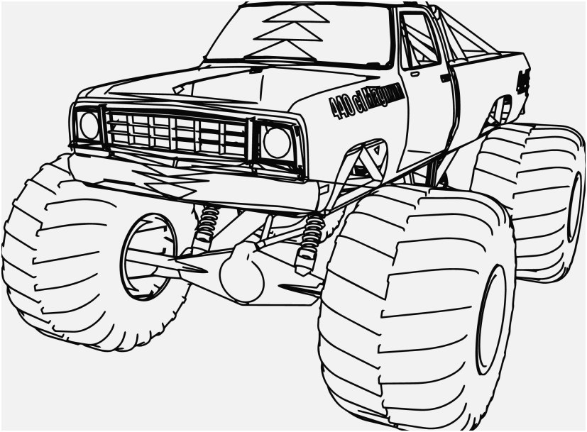 827x609 The Perfect Concept Coloring Pages Of Jacked Up Trucks Very Good