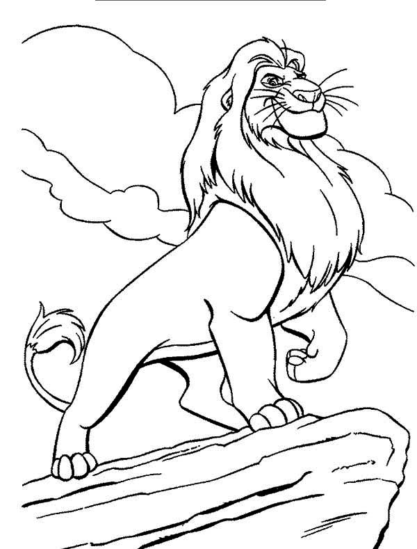 600x789 Mufasa Lion King Coloring Pages