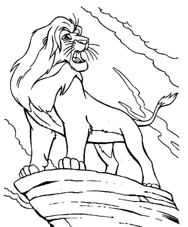 600x726 Mufasa Is Angry The Lion King Coloring Page