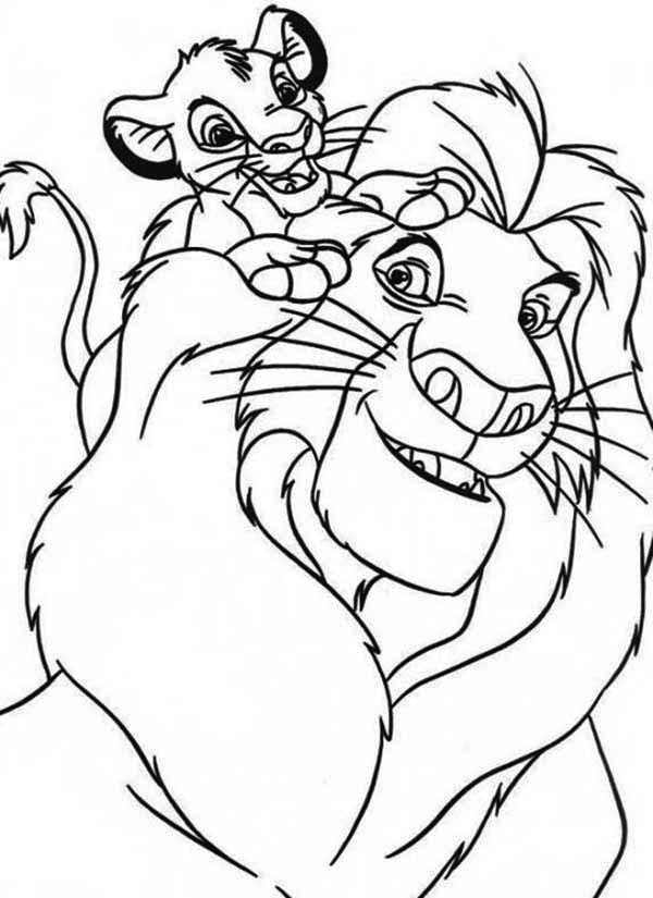 600x825 Simba And His Father Mufasa Coloring Page