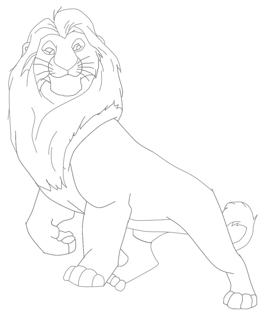 853x1000 Mufasa Lion King Character Coloring Page Mufasa Coloring Pages