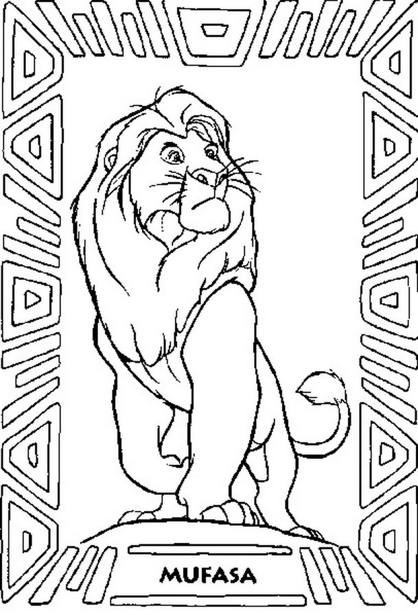 609x897 Mufasa Coloring Page For Kids Free Animal Pages