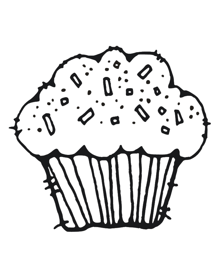 Muffin Coloring Page at GetDrawings.com | Free for personal use ...