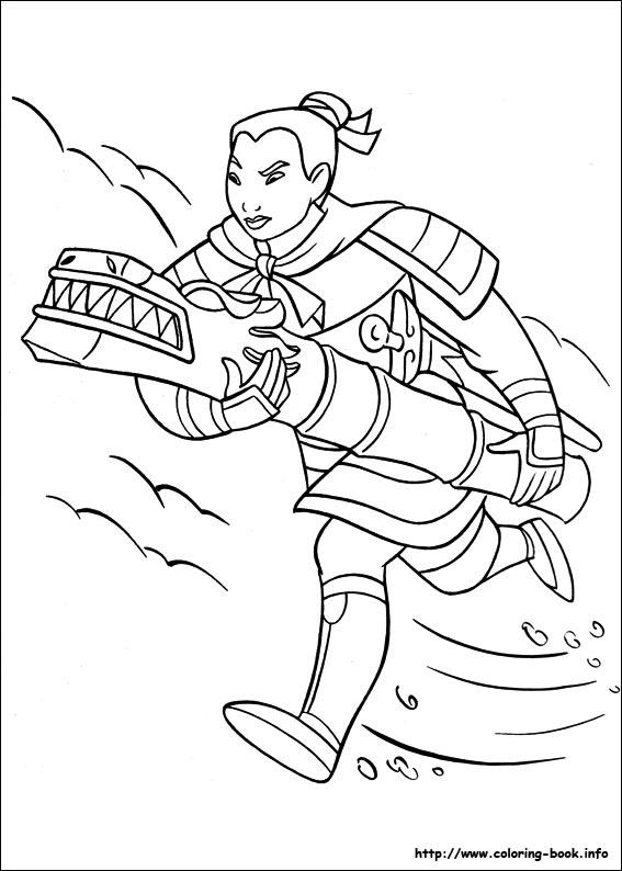 567x794 Heroic Story Of A Brave Girl Mulan Mulan Coloring Pages Free