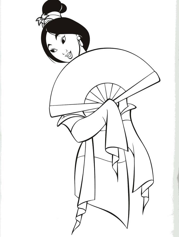 736x976 Mulan Coloring Page Coloring Page Y Blank Pattern Patterns Mulan